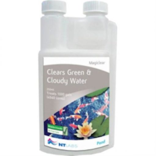 CLEARS GREEN AND CLOUDY WATER POND TREATMENT